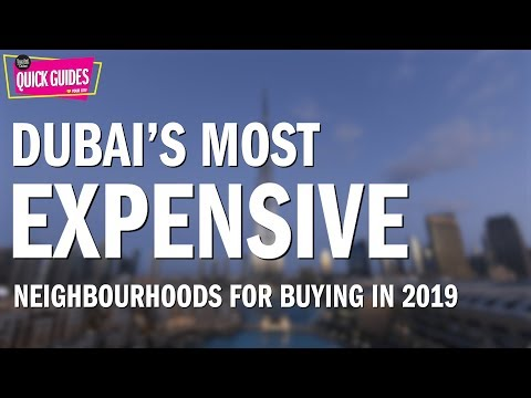 Dubai's most expensive areas for buying in 2019 (including the Palm Jumeirah and Burj Khalifa)!