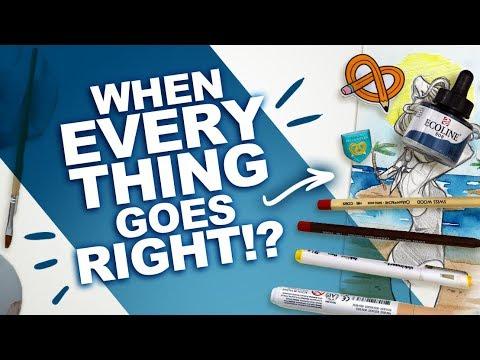 ART BLOCK EVAPORATES!? | Mystery Art Box | ArtSnacks Unboxing ! | Liquid + Marker Watercolors