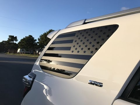 How To Install American Flag Decals Onto A 5th Gen Toyota 4runner
