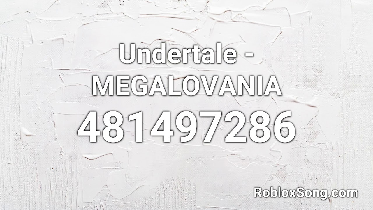 roblox music code for megalovania