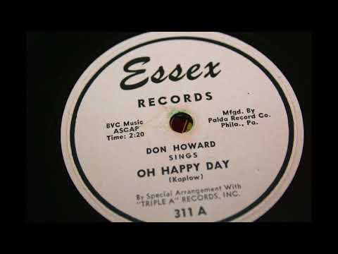 Don Howard - Oh Happy Day 78 rpm!