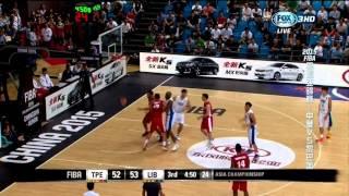 2015 長沙亞錦賽 中華v黎巴嫩 林志傑 21 Pts  LIN, Chih Chieh - FIBA Asia - Chinese Taipei v Lebanon