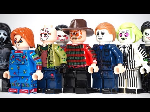 Lego Halloween A Nightmare On Elm Street Freddy VS Jason Friday The 13th Unofficial Lego Minifigures