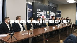 Włókniarz.tv: Konferencja prasowa w siedzibie SGP Group