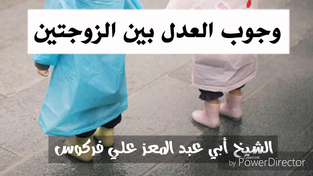وجوب العدل بين الزوجتين الشيخ محمد علي فركوس Youtube