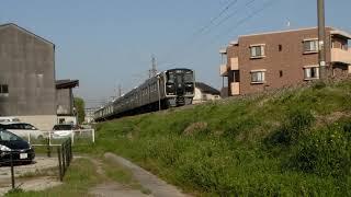817系+817系+813系 普通列車博多行 原町~柚須間通過!