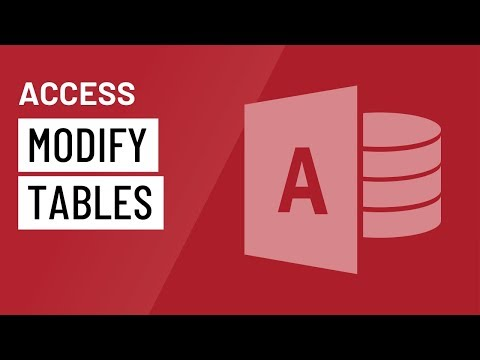 Access: Modifying Tables