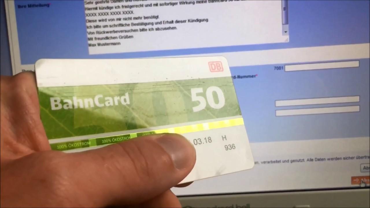 Bahncard 50 100 Kündigen Ganz Einfach Youtube