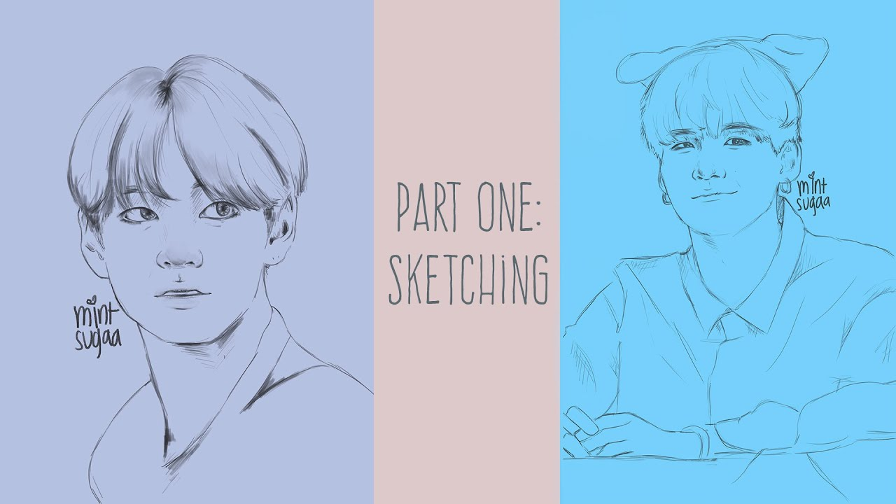 Tutorial Bts Part One Sketching Youtube