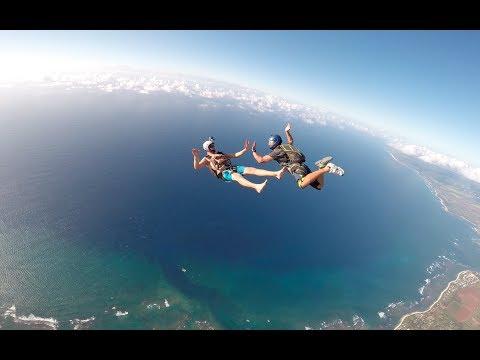 Skydive Hawaii Tracking Jump