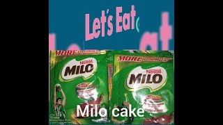 MILO CAKE NO BAKE 💯EASY
