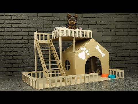 Download Youtube: How to Make Amazing Puppy Dog House from Cardboard