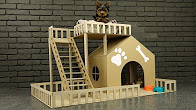 How to Make Amazing Puppy Dog House from Cardboard