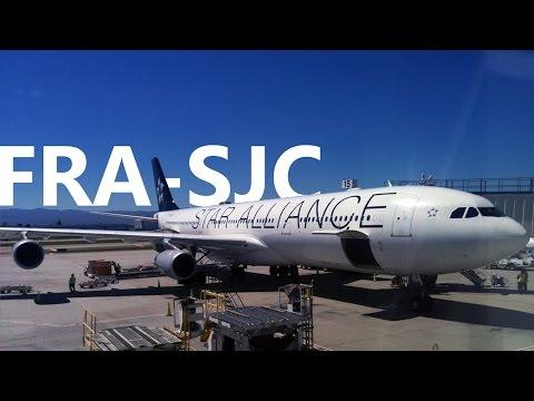 Lufthansa - Frankfurt to San Jose, CA - Airbus A340-300 - LH488
