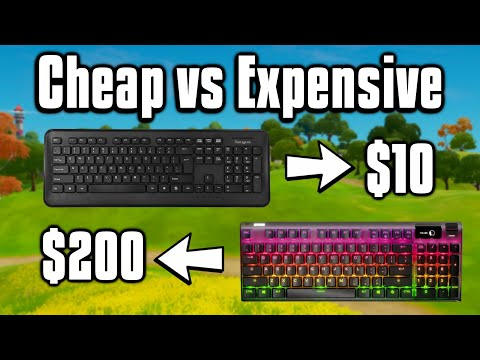 Comparing Cheap Vs Expensive Keyboards On Fortnite! - Which Is Better?