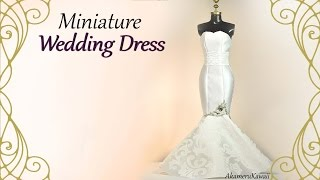 Miniature Mermaid Wedding Dress - Doll Craft Tutorial