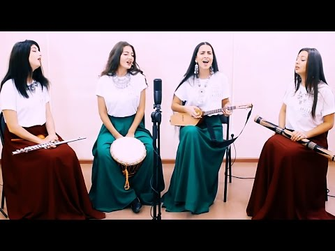 Caucasian Girls Band ARAGVI | Singing Poppuri of Traditional Georgian Songs at Repetition
