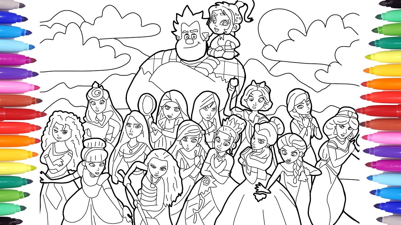 Ralph Breaks The Internet Wreck It Ralph 2 Coloring Pages For Kids