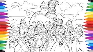 Ralph Breaks the Internet Wreck-It Ralph 2 Coloring Pages for Kids, Disney Princesses Coloring Pages