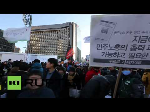 South Korea: Rally against rail privatisation draws thousands in Seoul