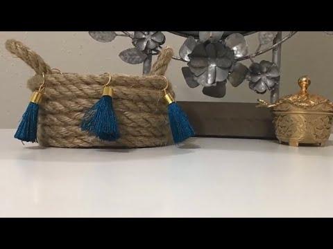 Dollar Tree DIY | Accessories storage basket | Jewelry organizing basket.