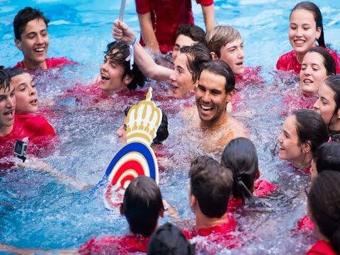 Rafael Nadal Takes Party To The Pool After Winning Incredible 10th Barcelona Open Title