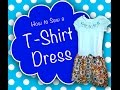 How to Sew a Cute T-Shirt Dress!  Easy & Fun!