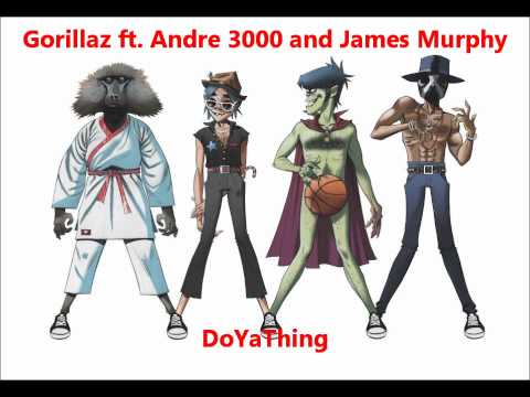 Gorillaz - DoYaThing ft. Andre 3000 and James Murphy (with lyrics)