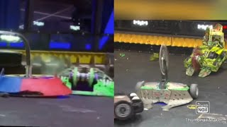 BattleBots: Witch Doctor Vs Gigabyte And Exhibition :Skorpion, DeathRoll And BuckTooth Burl