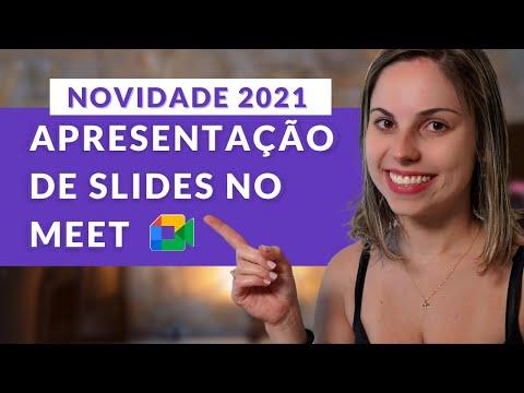 NOVO MEET 2021 - Como fazer apresentação de slides