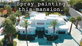 SPRAY PAINTING AN ENTIRE MANSION IN 2 MINUTES