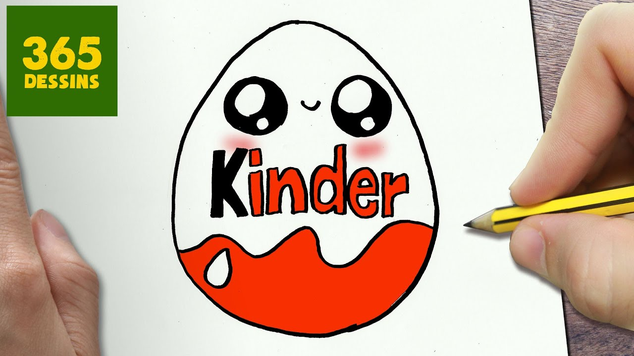 Comment Dessiner Kinder Kawaii Etape Par Etape Dessins Kawaii
