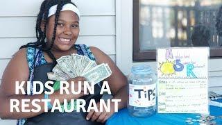 Kids Run A Restaurant! Amaya's Neighborhood Restaurant!!