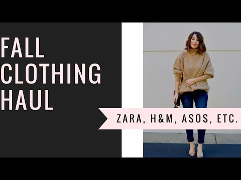 Fall Clothing Haul + Try-On (Zara, Asos, H&M, Nordstrom, Revolve, etc)