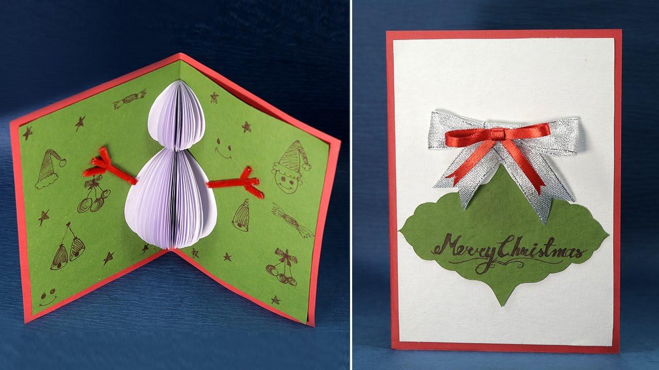 pop up christmas card handmade snowman christmas card