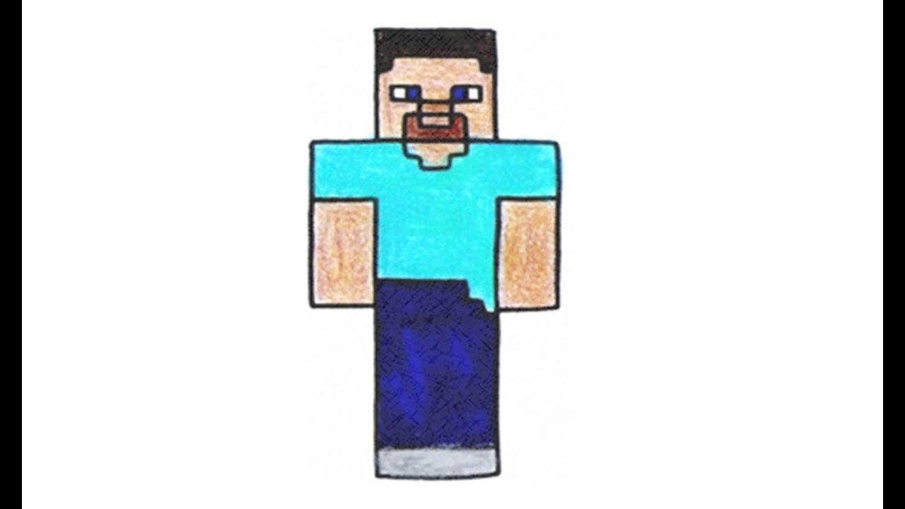 Wie Zeichnet Man Steve Aus Minecraft Skin Youtube