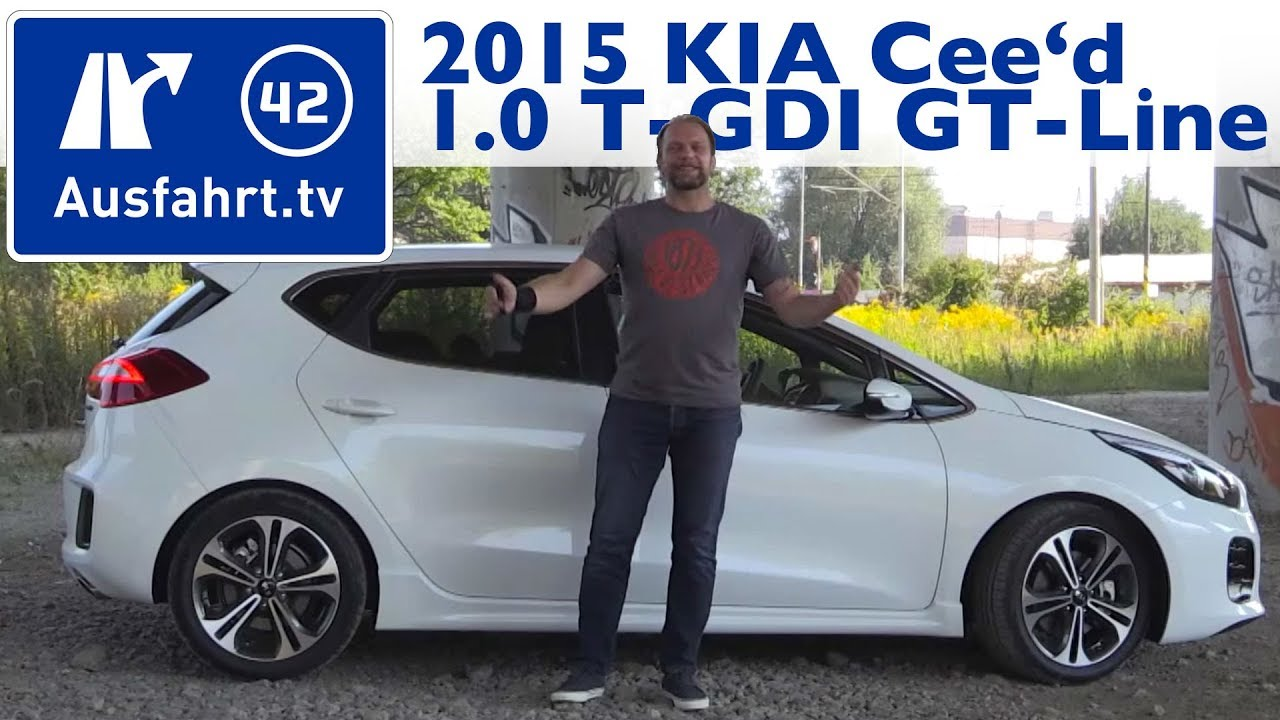 2015 kia cee 39 d 1 0 t gdi gt line kaufberatung test review youtube. Black Bedroom Furniture Sets. Home Design Ideas