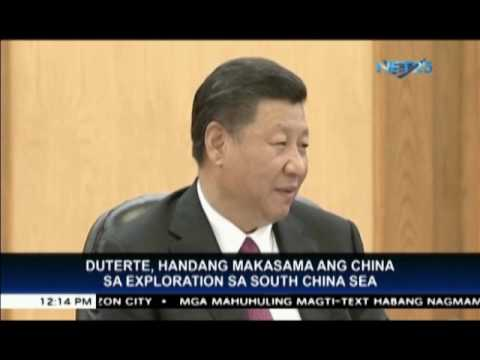 President Duterte open to joint Philippine Chinese exploration of South China Sea