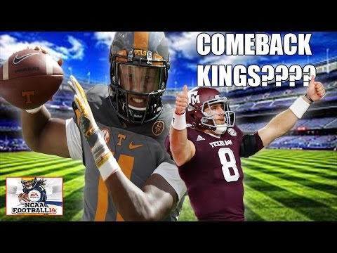 CAN JOSH DOBBS COME BACK FROM BEING DOWN BY 21 POINTS? #9 TENNESSEE VS #8 TEXAS A&M NCAA FOOTBALL 17