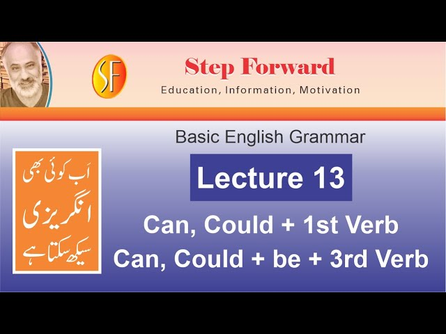 Basic English Grammar | Lecture 13 |Can,Could+Ist Verb| Could be+3rd Verb Naeem Sulehri | Urdu|Hindi