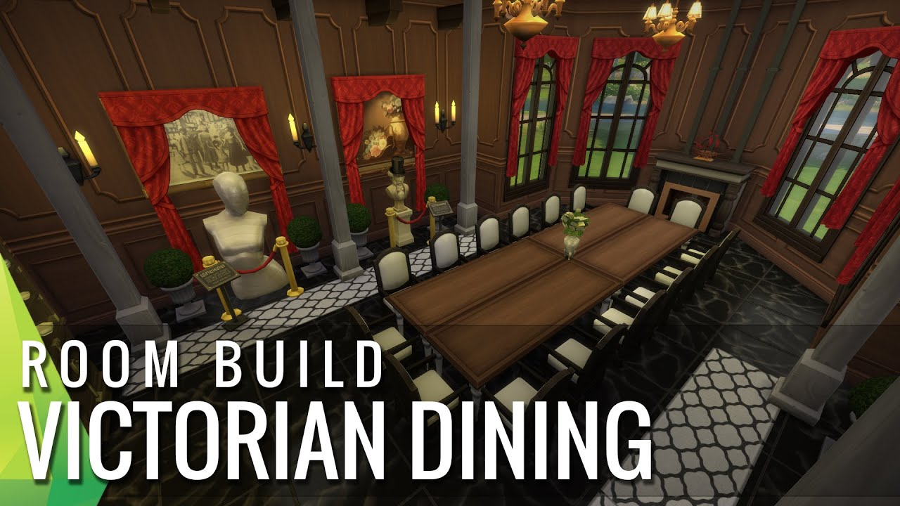 the sims 4 room build victorian dining room youtube