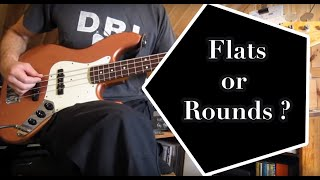 flatwound vs roundwound strings on a fender jazz bass