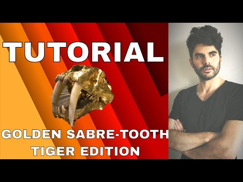 How to make a Golden Sabre-tooth Tiger