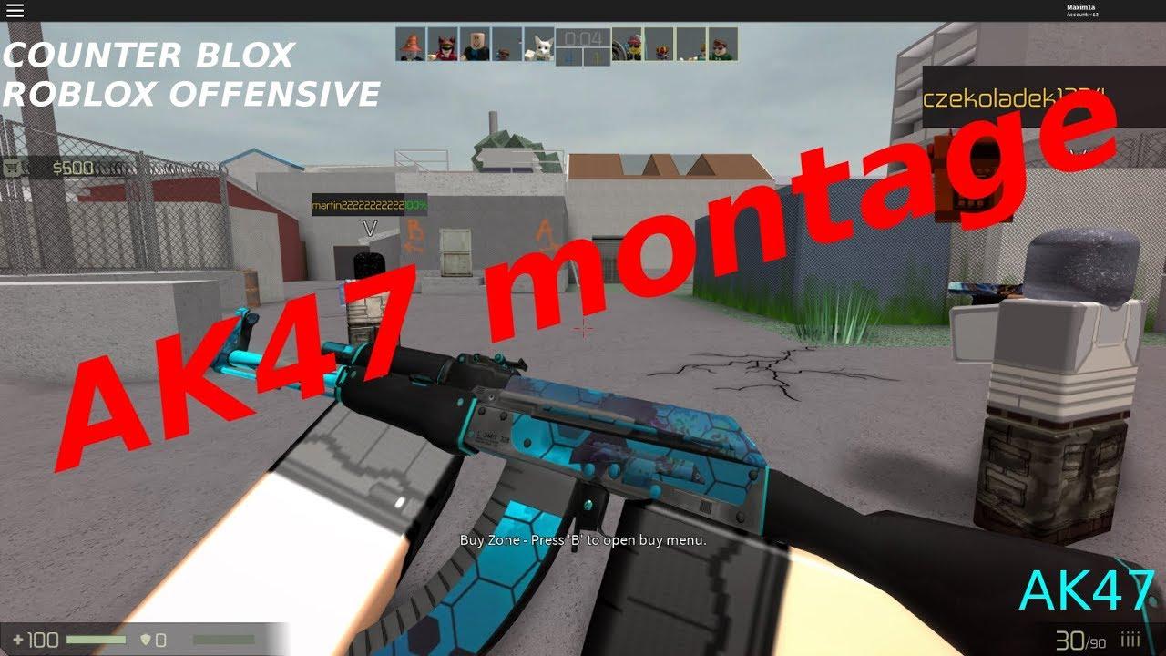 COUNTER BLOX : ROBLOX OFFENSIVE | AK47 kills Montage #1