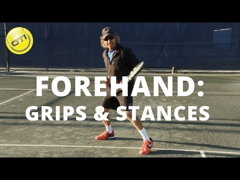 Tennis Tip: Forehand Grips And Stances