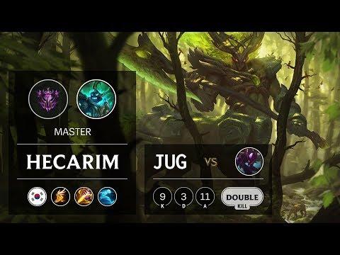 Hecarim Jungle vs Kha'Zix - KR Master Patch 9.18