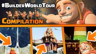 Clash Of Clans New Competition | 1000 GEMS FREE | #BuilderWorldTour | Best Submission COMPILATION |