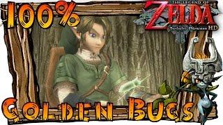 The Legend of Zelda Twilight Princess HD Wii U - All Golden Bugs (Golden Bug Locations) & Rewards