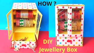 Bangle Box Making at Home with waste Cardboard box | Best out of waste | DIY jewellery box