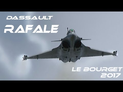 "The Best demo of the Rafale Solo Display ""Marty"" 4K UHD Airshow Le Bourget 2017 Paris  HD HQ"